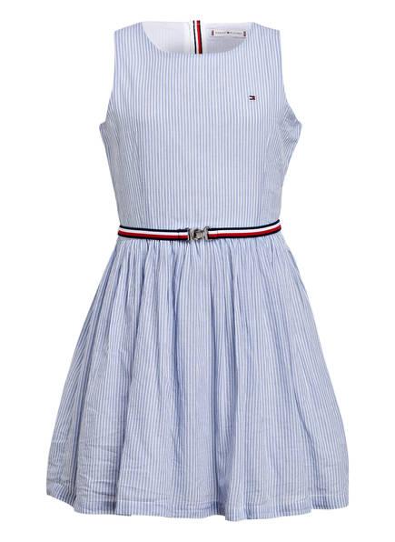 TOMMY HILFIGER Kleid, Farbe: HELLBLAU/ WEISS GESTREIFT (Bild 1)
