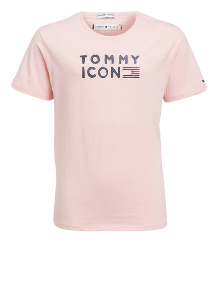 TOMMY HILFIGER T-Shirt mit Glitzerbesatz, Farbe: ROSA (Bild 1)