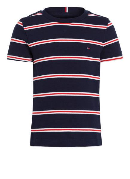 TOMMY HILFIGER T-Shirt, Farbe: BLAU/ ROT/ WEISS GESTREIFT (Bild 1)
