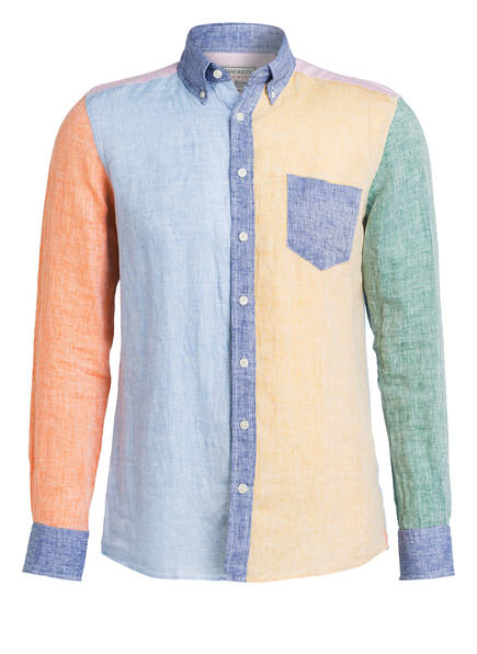 HACKETT LONDON Leinenhemd Slim Fit, Farbe: HELLBLAU/ GELB/ ORANGE (Bild 1)