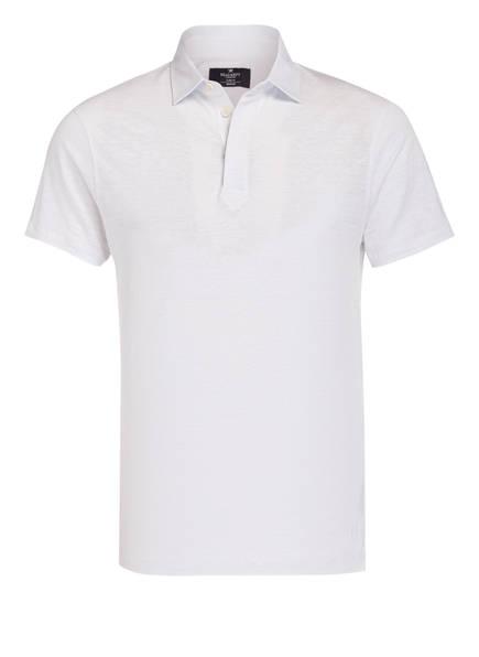 HACKETT LONDON Leinen-Poloshirt, Farbe: WEISS (Bild 1)