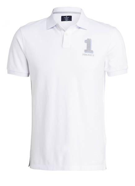 HACKETT LONDON Piqué-Poloshirt Classic Fit, Farbe: WEISS (Bild 1)