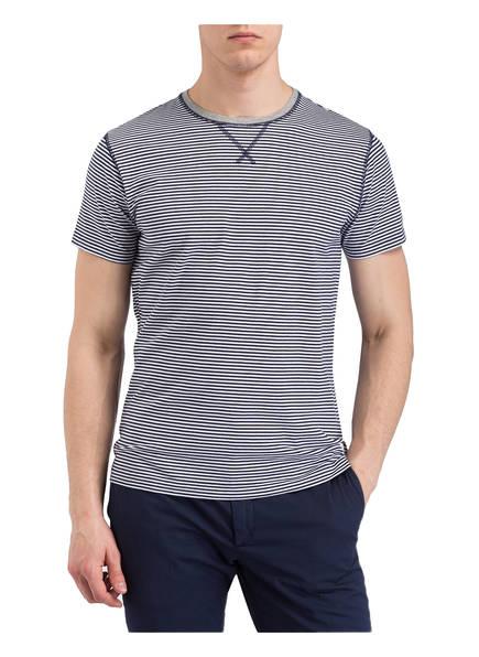 Weiss London shirt Dunkelblau T Hackett aSvIc