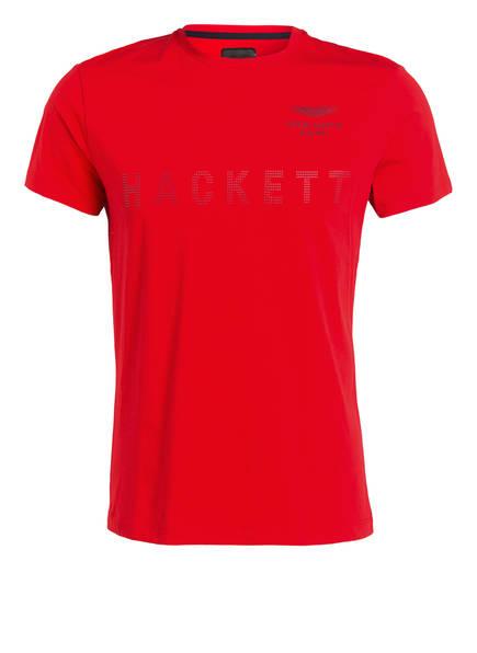 HACKETT LONDON T-Shirt mit monochromer Label-Prägung, Farbe: ROT (Bild 1)