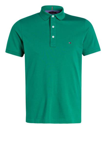 TOMMY HILFIGER Piqué-Poloshirt Slim Fit, Farbe: GRÜN (Bild 1)