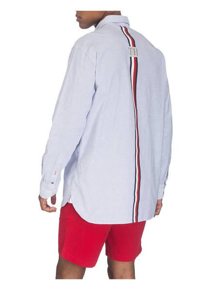 Oversized Tommy Fit Weiss Hemd Blau Gestreift Hilfiger TffqanRpxw