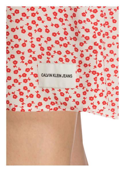 Calvin Weiss Kleid Klein Jeans Rot rTFrpx