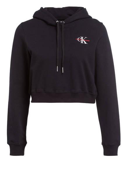 Calvin Klein Jeans Cropped-Hoodie, Farbe: SCHWARZ (Bild 1)