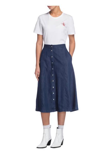 Calvin shirt T Jeans Weiss Klein AwA4z