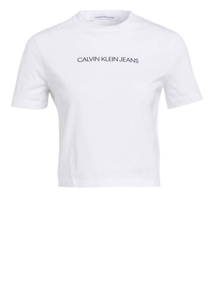 Calvin Klein Jeans Cropped-Shirt, Farbe: WEISS (Bild 1)