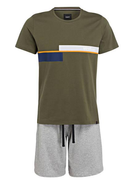 strellson Shorty-Schlafanzug, Farbe: OLIV/ GRAU (Bild 1)