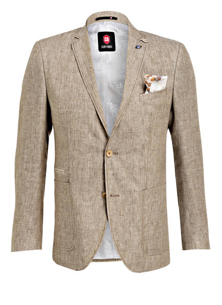 CG CLUB of GENTS Leinensakko Tailored Fit, Farbe: BEIGE (Bild 1)