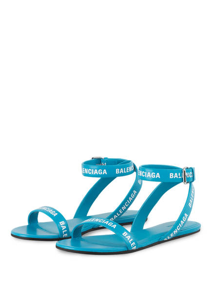 BALENCIAGA Sandalen, Farbe: TÜRKIS (Bild 1)