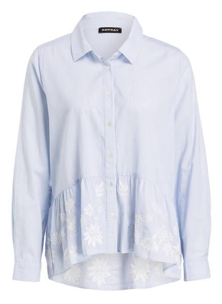 REPEAT Bluse, Farbe: BLAU/ WEISS GESTREIFT (Bild 1)
