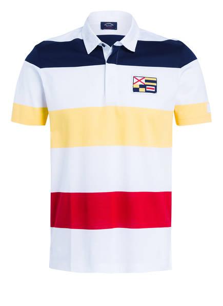 PAUL & SHARK Piqué-Poloshirt, Farbe: WEISS /GELB /ROT (Bild 1)
