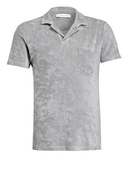 ORLEBAR BROWN Frottee-Poloshirt, Farbe: GRAU (Bild 1)