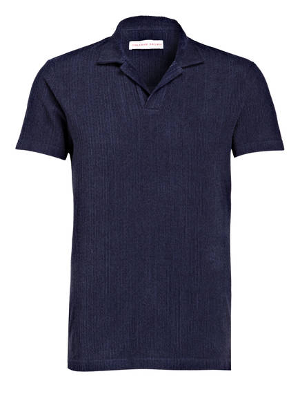 ORLEBAR BROWN Frottee-Poloshirt, Farbe: NAVY (Bild 1)