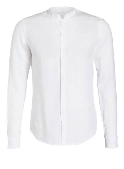 Q1 Manufaktur Leinenhemd René Slim Fit mit Stehkragen, Farbe: WEISS (Bild 1)