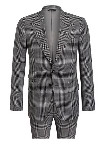 TOM FORD Anzug SHELTON CHECK Regular Fit, Farbe: SCHWARZ/ WEISS KARIERT (Bild 1)