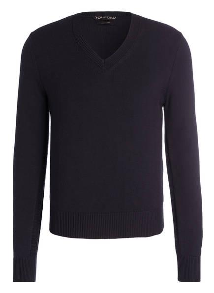 TOM FORD Pullover mit Seidenanteil, Farbe: NAVY (Bild 1)