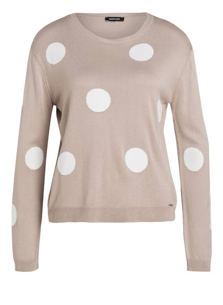 MORE & MORE Pullover, Farbe: BEIGE/ WEISS (Bild 1)