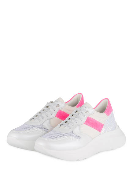 NO CLAIM Plateau-Sneaker LIZZY 9 , Farbe: WEISS/ PINK (Bild 1)