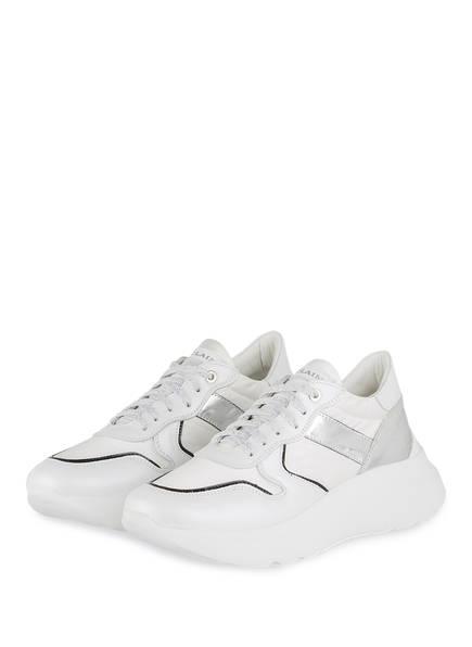 NO CLAIM Sneaker LIZZY 8 , Farbe: WEISS/ SILBER (Bild 1)