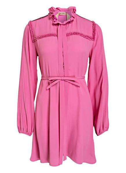 N°21 Blusenkleid mit Seidenanteil, Farbe: FUCHSIA (Bild 1)