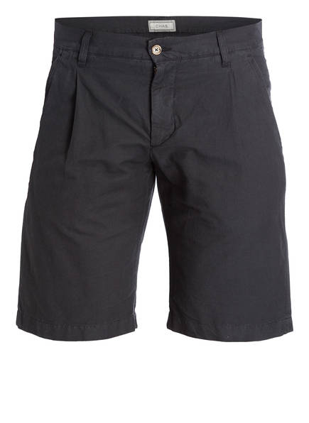 CHAS Shorts mit Leinenanteil, Farbe: DUNKELGRAU (Bild 1)