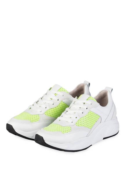 KENNEL & SCHMENGER Sneaker ULTRA, Farbe: WEISS/ NEONGRÜN (Bild 1)