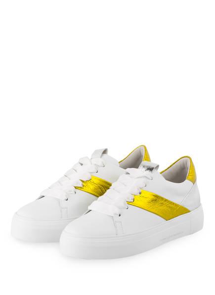 KENNEL & SCHMENGER Plateau-Sneaker BIG, Farbe: WEISS/ GELB (Bild 1)