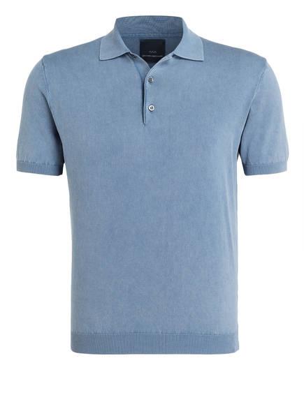 EDUARD DRESSLER Feinstrick-Poloshirt, Farbe: HELLBLAU (Bild 1)