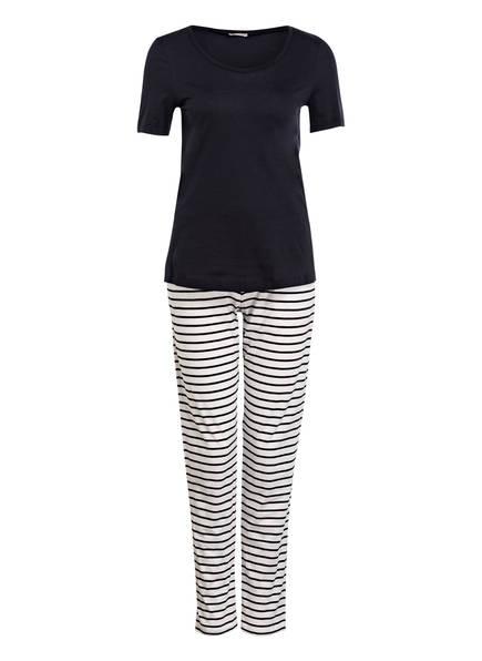 HANRO Schlafanzug , Farbe: DUNKELBLAU/ WEISS GESTREIFT (Bild 1)