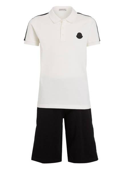 MONCLER Set: Poloshirt und Shorts, Farbe: WEISS (Bild 1)
