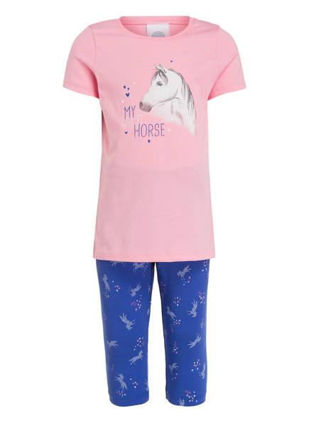 Sanetta Schlafanzug in 3/4-Länge, Farbe: ROSA/ BLAU (Bild 1)