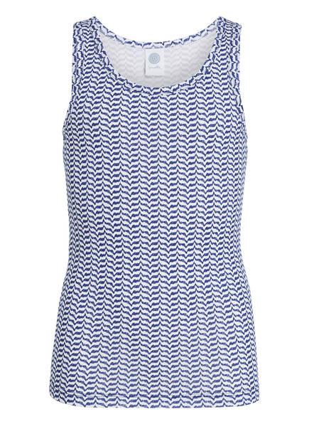Sanetta Unterhemd, Farbe: WEISS/ BLAU (Bild 1)
