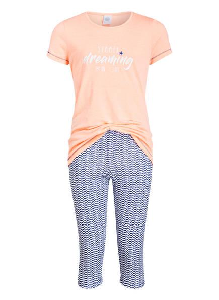 Sanetta Schlafanzug, Farbe: ORANGE/ WEISS/ DUNKELBLAU (Bild 1)