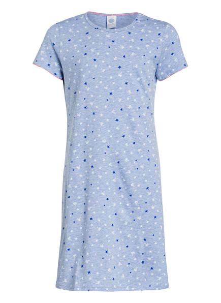 Sanetta Nachthemd, Farbe: HELLBLAU MELIERT (Bild 1)