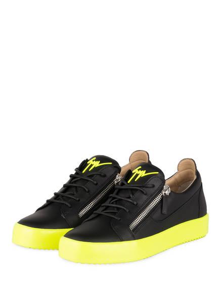 GIUSEPPE ZANOTTI DESIGN Sneaker FRANKIE FLUO, Farbe: SCHWARZ/ NEONGRÜN (Bild 1)