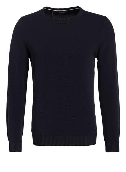 MAERZ MUENCHEN Piqué-Pullover, Farbe: NAVY (Bild 1)