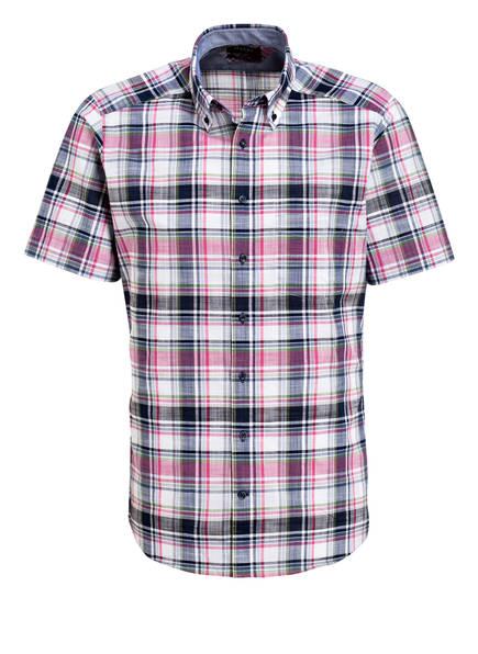Muenchen Halbarm Blau Fit Pink hemd Weiss Slim Maerz Rq8dwSpR