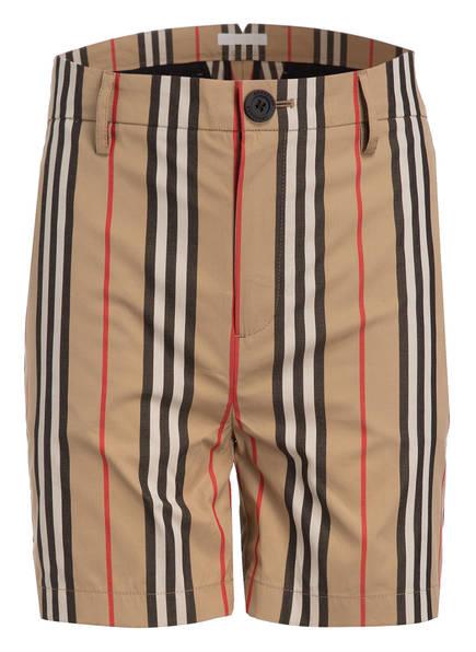 BURBERRY Shorts , Farbe: BEIGE/ SCHWARZ/ ROT (Bild 1)