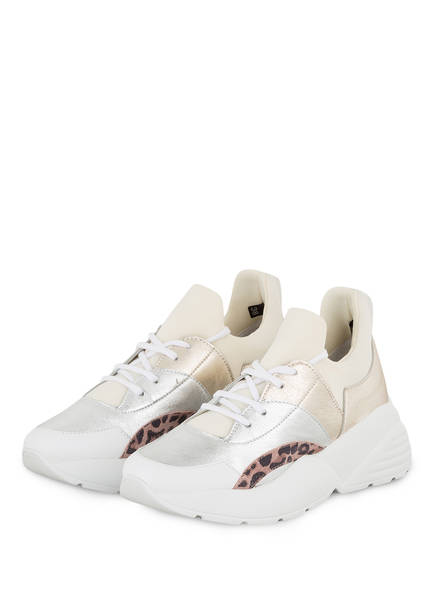 GIO+ Plateau-Sneaker, Farbe: SILBER/ BEIGE (Bild 1)