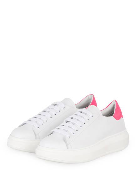 GIO+ Plateau-Sneaker , Farbe: WEISS/ PINK (Bild 1)