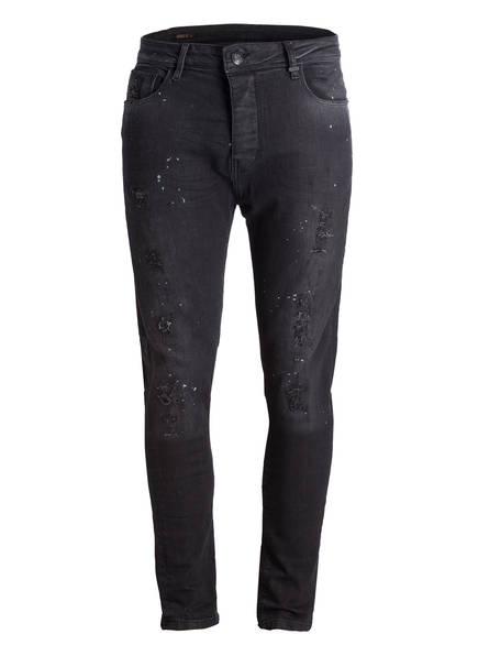 ER-Denim Jeans ANTONY Tapared Fit, Farbe: BLACK DESTROYED (Bild 1)