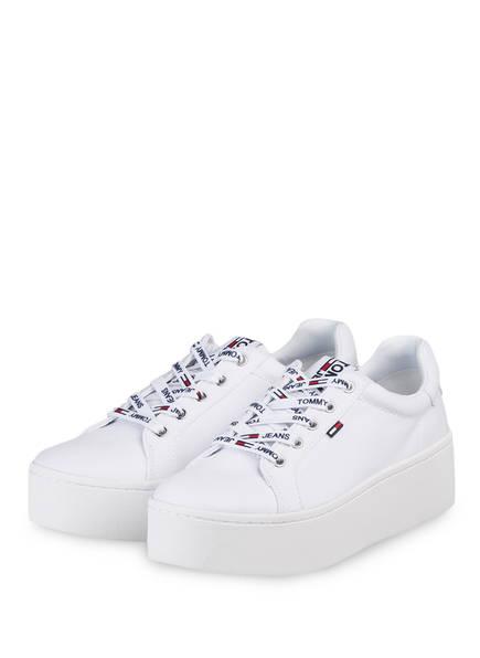 TOMMY JEANS Plateau-Sneaker, Farbe: WEISS (Bild 1)