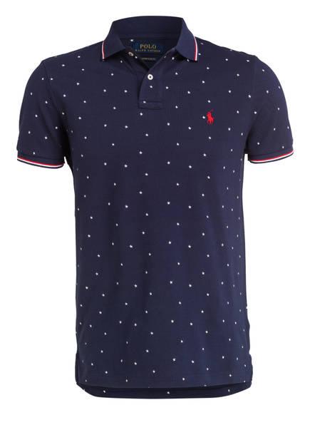 POLO RALPH LAUREN Piqué-Poloshirt Custom Slim Fit, Farbe: DUNKELBLAU (Bild 1)