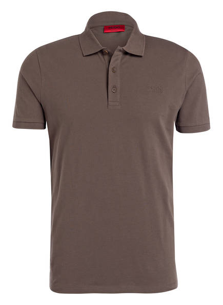 HUGO Piqué-Poloshirt DONOS Regular Fit, Farbe: TAUPE (Bild 1)