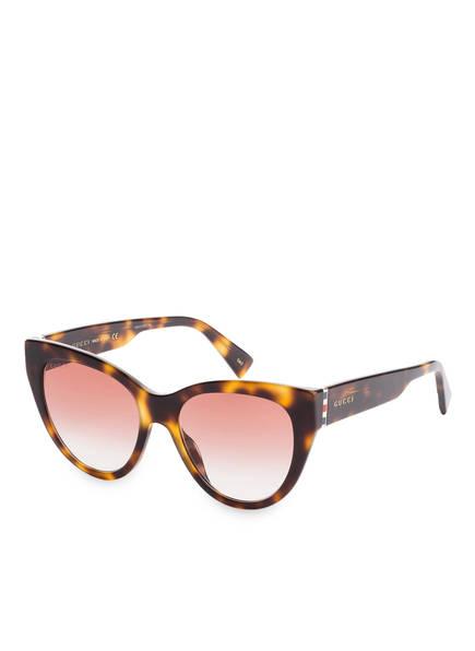 GUCCI Sonnenbrille GG0460S, Farbe: 004 - HAVANA/ ROT VERLAUF (Bild 1)