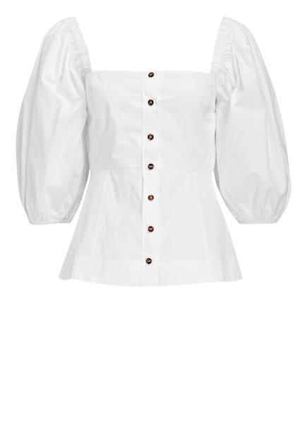 GANNI Blusenshirt, Farbe: WEISS (Bild 1)